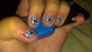 British flag nails by leafyloo