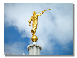 Angel Moroni - Provo Temple by WillFactorMedia