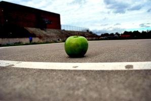Isolated Apple by SymmetricalLove