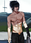 Have another shirtless Noctis by Bev-Nap