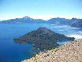 crater lake by orngeturtl