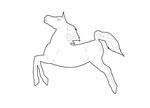 Jump Lineart, Paint Friendly by Horse-Lineart