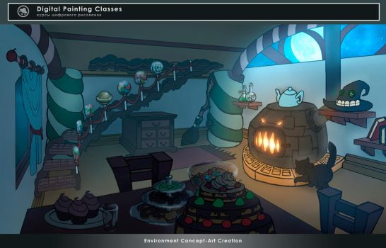 Candy House Interior by Black-Nocturne