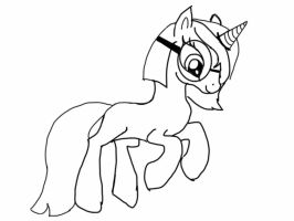 Empty MLP lineart by silverdragons2012