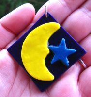 Moon and star pendant by SarahRose