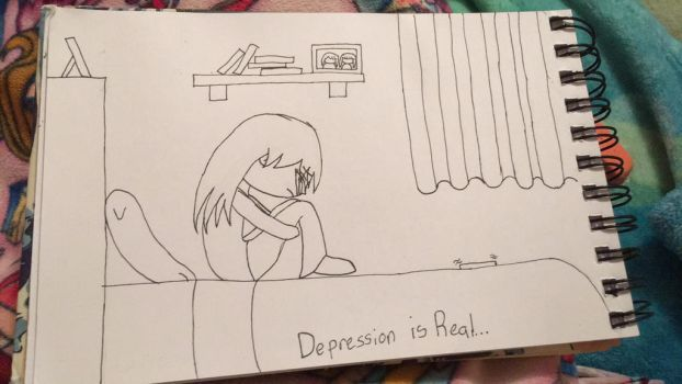 Depression is Real... {Vent Art} by chatnoirlove13