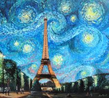 Starry Night in Paris by Maiwen