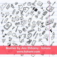 doodles Brushes - hand Drawing objects by hotamr