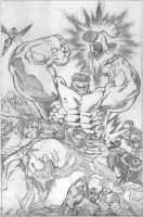 world war hulk x-men pencils by EdMcGuinness