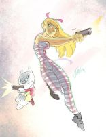 Alice and The White Rabbit by DaveJorel