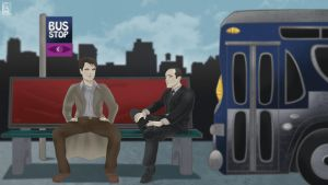THE BUS STOP with Jack Harkness x Phil Coulson by jackcrowder