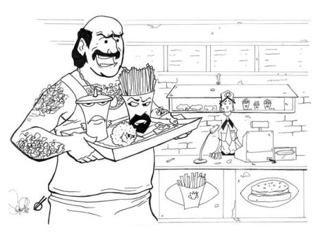 Aqua Teen Value Meal by rbowl24