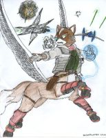 Fox McCloud Taur Request by dragonheart07