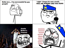 Calling 911, But Wait... 4 -Rage Comic- by Albowtross91