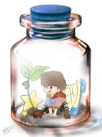 Taemin in a bottle by Pulimcartoon