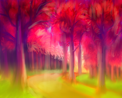fantasy forest by Lia-tomoe