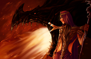 Fire and Blood by orisoni