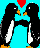 Penguin Love by pencil-to-papaer