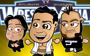 Alberto del Rio and Pals by kapaeme