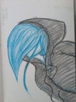 No Face Girl 2 - Oil Pastels by megpressley