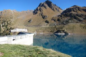 Cleuson Dam view by elodie50a