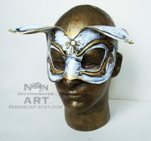 Bioshock Splicer Style Cat leather costume mask by nondecaf