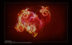 Flaming Heart by 5p34k