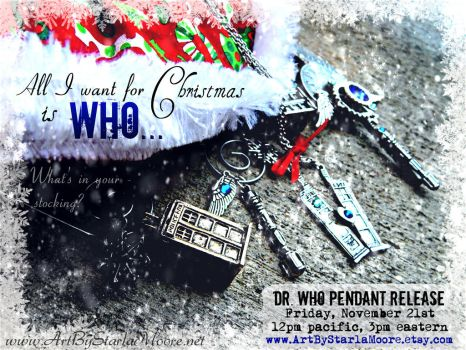 Dr. Who pendant release on Friday Nov 21st by ArtByStarlaMoore