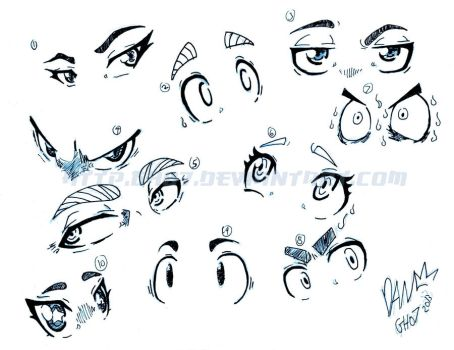 More Manga Anime Eyes My Own Style by gh07