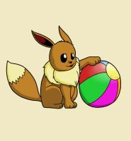 Eevee With a Ball by Kordyne