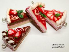 strawberry cakes by natafka