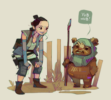 Rey-a-Day 76 Ewok by michaelfirman
