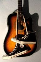 Guitar and shoes by ONEofTH3SEdays