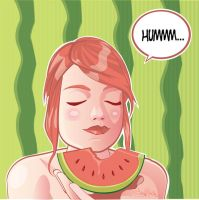 WaterMelon Girl two by tintanaveia