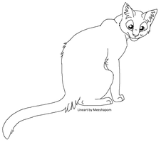 cat lineart by meeshmoose