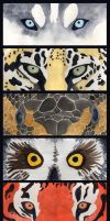 Animal Bookmarks by SargassosArt