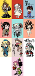 The year of the Goat with Kancolle Chibis by Tzoli