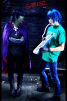 Gorillaz Cosplay-play melodica by Kaorulein