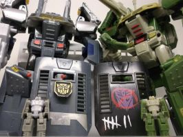TfCon Stronghold and Headrobots Hothead by forever-at-peace
