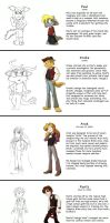 My Characters-Before and After by ChaosKomori