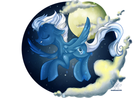 Night Glider by Downpourpony