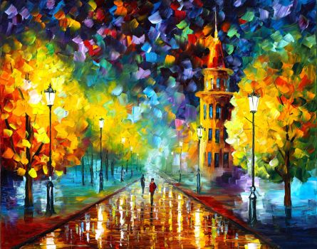 Gold Winter by Leonid Afremov by Leonidafremov