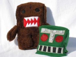 Domo with robot helmet by ZodiacEclipse