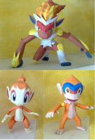 Chimchar evolution papercraft by LordBruco