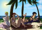 Sunbathing at Destiny Islands by osca-mayo-winna