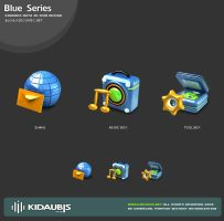 KIDAUBIS 3D ICON - Blue series by kidaubis