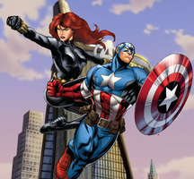 Cap X Widow (Avengers Assemble Versions.) by WOLFBLADE111