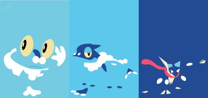 Froakie evolutionline by S--Art