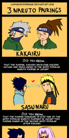 3 Naruto Pairings by LadyQuintessence