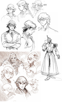 Tiger and Bunny doodles by Barukurii
